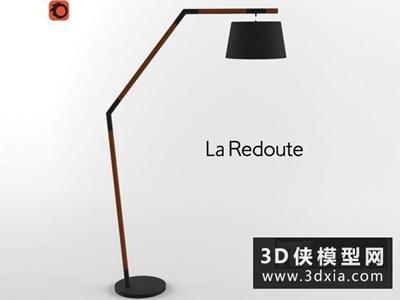 现代落地灯国外3D模型【ID:929355097】