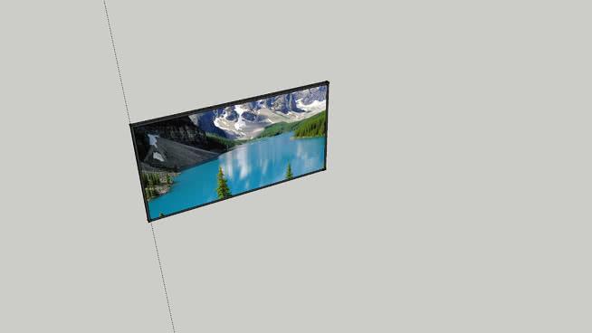 巨大的電視屏幕SU模型【ID:940459665】