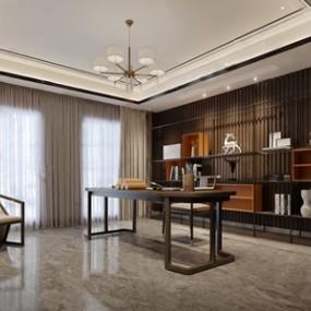新中式��房 3D模型【ID:542044435】
