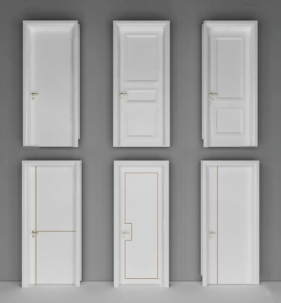 现代白色房门单开门3d模型