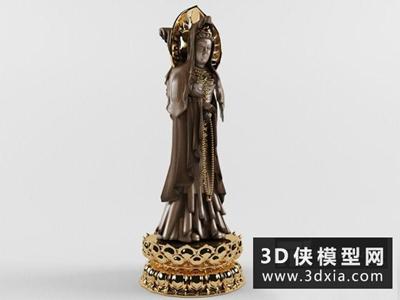 观音菩萨国外3D模型【ID:929726762】