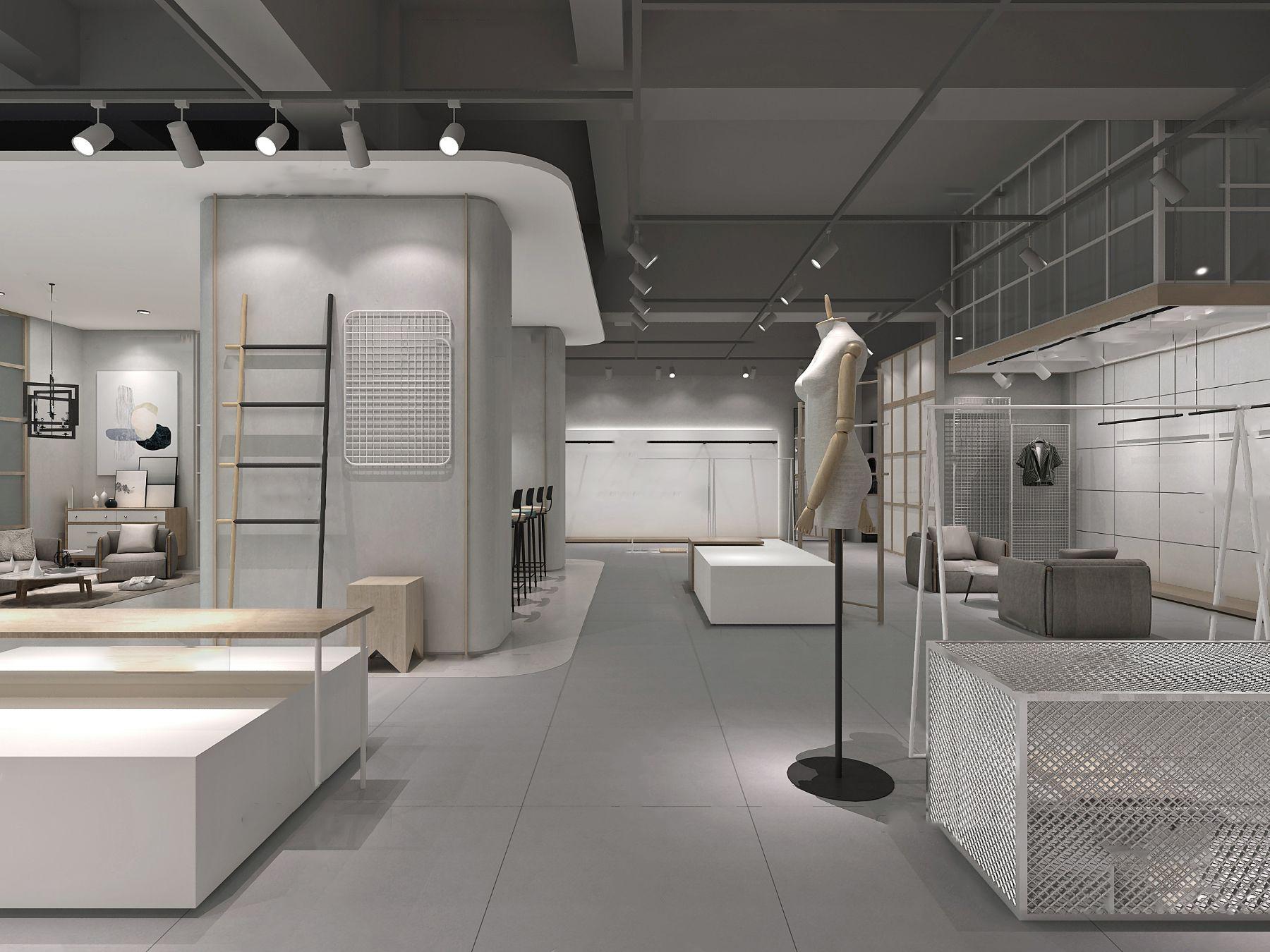 北欧服装店3D模型【ID:143275077】
