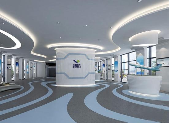航空公司展厅3D模型【ID:928183310】
