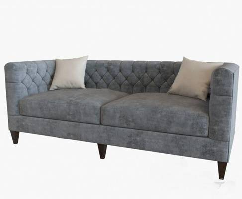 美式双人沙发3D模型下载【ID:919402703】