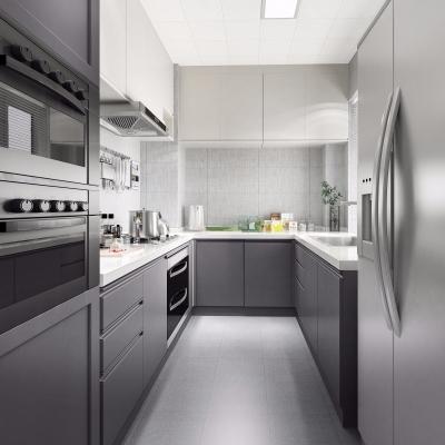現代廚房櫥柜3D模型【ID:127768493】