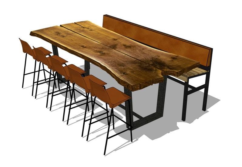 散座餐桌SU模型【ID:637107684】