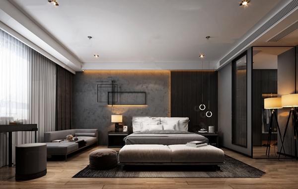 現代酒店客房3D模型【ID:747289365】