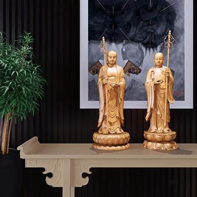 新中式唐三藏雕塑陈设摆件组合3D模型【ID:327924833】