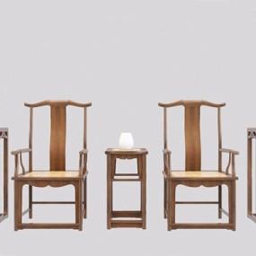 新中式官帽椅方几3D模型【ID:227886481】