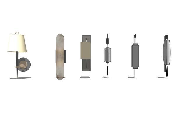 新中式壁燈SU模型【ID:345899916】