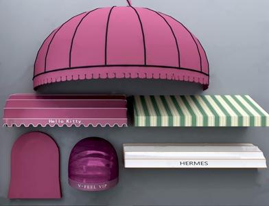 现代遮雨棚遮阳棚3D模型【ID:920801812】