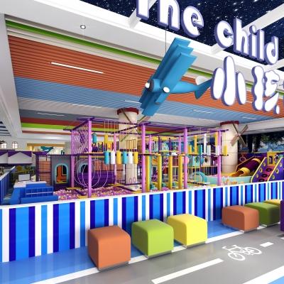 现代淘气堡儿童游乐园3D模型【ID:227782533】