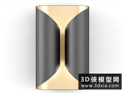 現代壁燈國外3D模型【ID:829672851】