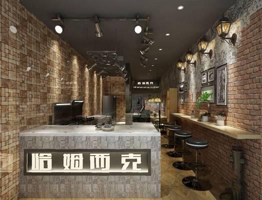 工业餐厅3D模型【ID:120612855】