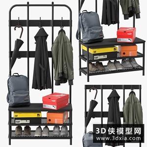 衣服模型组合国外3D模型【ID:329324828】