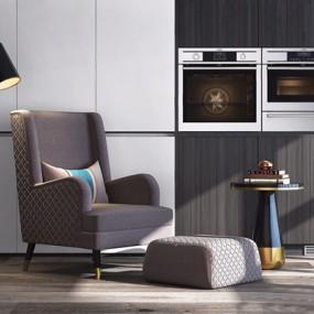 现代休闲单人沙发3D模型【ID:928349668】