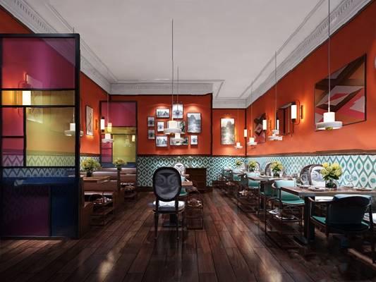 混搭餐厅3D模型【ID:120616827】