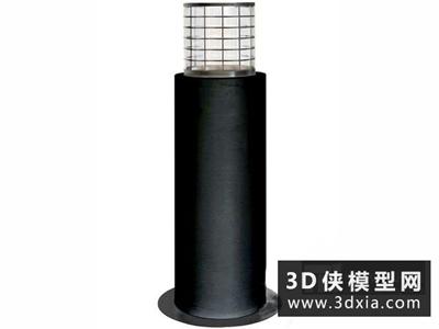 現代地燈國外3D模型【ID:929394273】