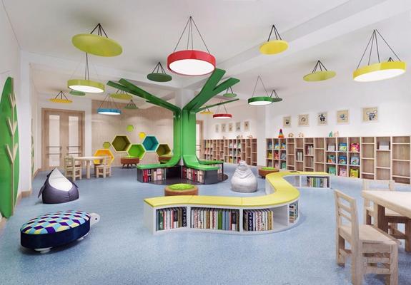 幼兒園閱覽室3D模型【ID:527855845】