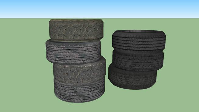 輪胎組SU模型【ID:439241953】