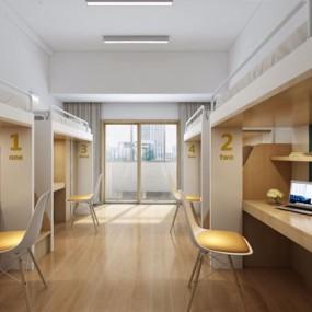 现代学校宿舍3D模型【ID:227872652】