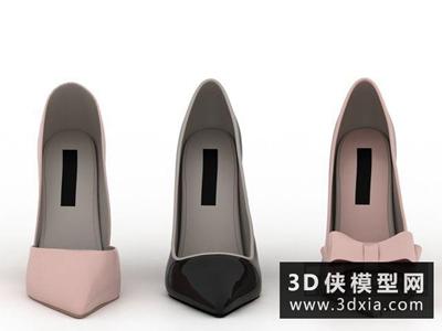 鞋子國外3D模型【ID:929379613】