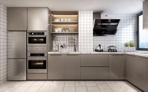 北歐廚房3D模型【ID:541633320】