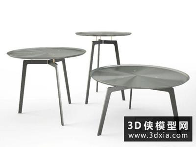 現代茶幾國外3D模型【ID:829542130】