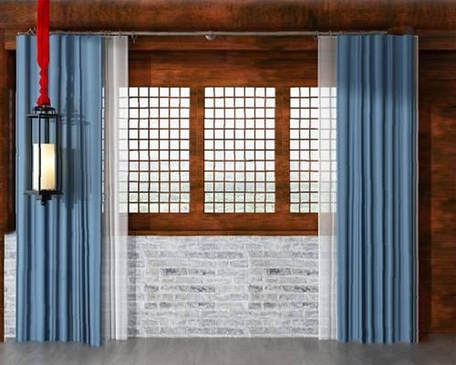 中式窗户3D模型【ID:720602631】