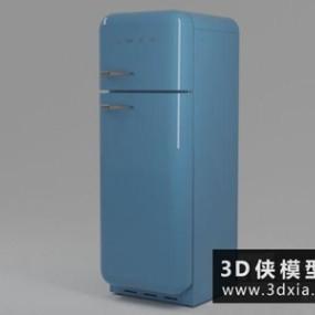 现代冰箱国外3D模型【ID:129410748】
