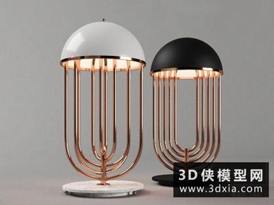 現代臺燈國外3D模型【ID:829767999】