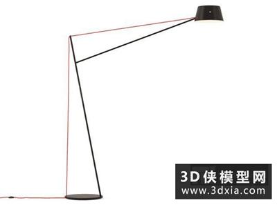 现代落地灯国外3D模型【ID:929386087】