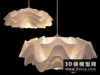 现代吊灯国外3D模型【ID:829538755】