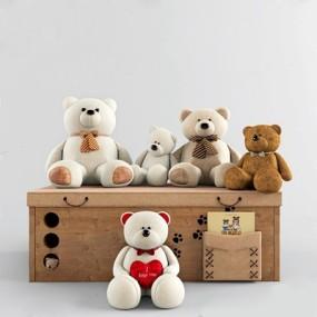 儿童熊玩具摆设3D模型【ID:528007264】