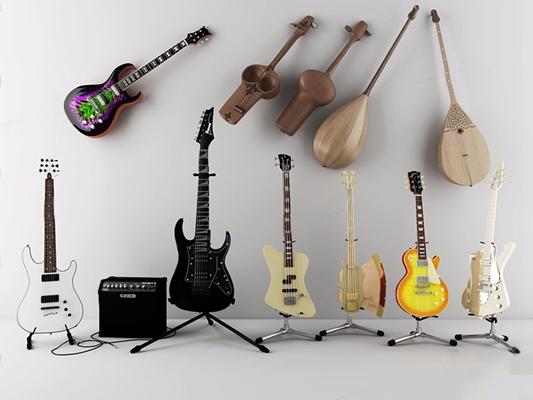 电子乐器组合3D模型【ID:128046097】
