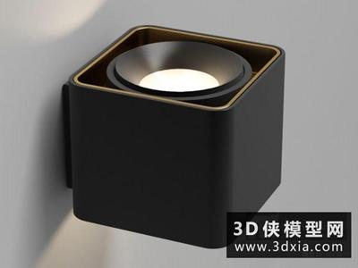 現代壁燈國外3D模型【ID:829672834】