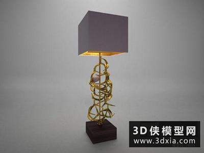 现代新古典台灯国外3D模型【ID:829721930】