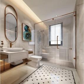 现代卫浴空间3D模型【ID:528014475】