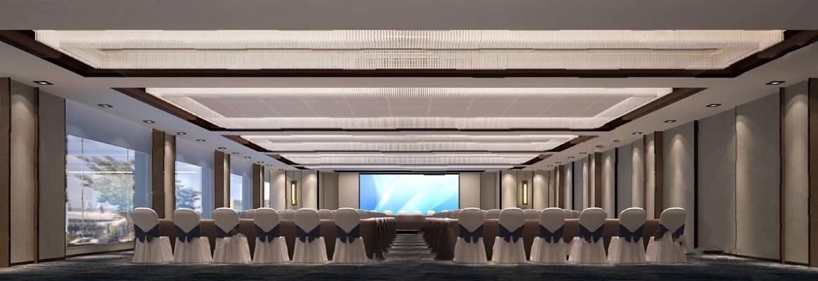 现代会议厅3D模型【ID:820605054】