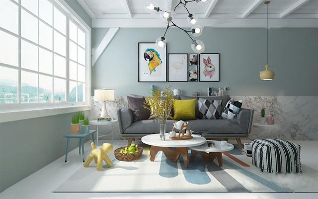 北欧双人沙发3D模型【ID:926233748】