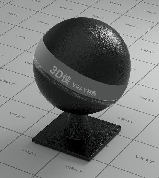 黑色皮革Vray材质【ID:736534945】