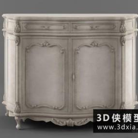 欧式装饰柜国外3D模型【ID:829618092】