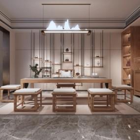 新中式茶室3D模型【ID:327794441】