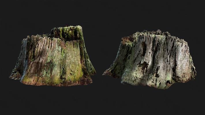 现代树干3D模型【ID:320617667】