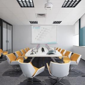 现代会议室3d模型【ID:947087194】
