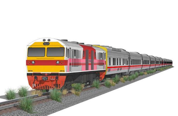 火車SU模型【ID:846374134】