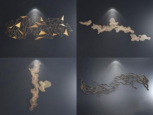 現代墻飾合集3D模型【ID:128221180】