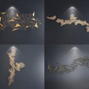 现代墙饰合集3D模型【ID:128221180】