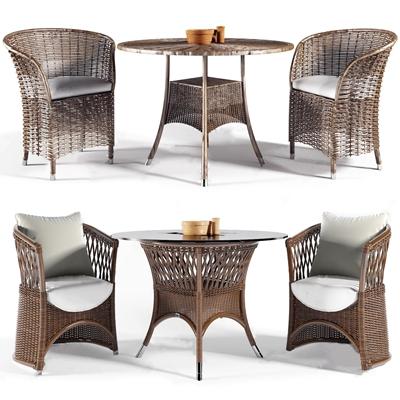 现代休闲户外椅桌几组合3D模型【ID:734111522】