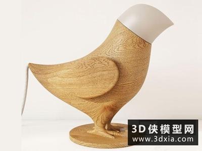 小鸟台灯国外3D模型【ID:829373945】